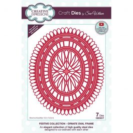 Creative Expressions Sue Wilson Dies Festive Collection – Ornate Oval Frame