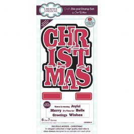 Creative Expressions Sue Wilson Die & Stamp – Big Bold Words Christmas