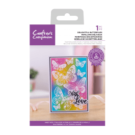 Crafter's Companion Photopolymer Stamp 6″ x 4″ – Delightful Butterflies