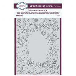 Creative Expressions 3D Embossing Folder 5.75″ x 7.5″ Snowflake Solitude
