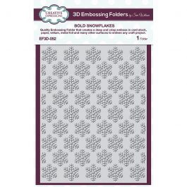 Creative Expressions 3D Embossing Folder 5.75″ x 7.5″ Bold Snowflakes