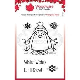 Woodware Clear Stamp 3.8″ x 2.6″ Peter Penguin
