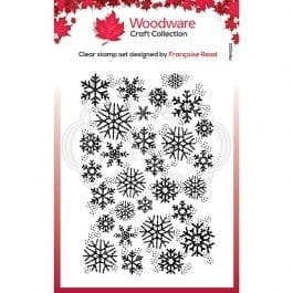 Woodware Clear Stamp 3.8″ x 2.6″ Snowflake Flurry