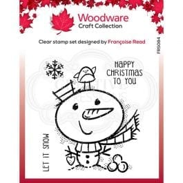 Woodware Clear Stamp 4″ x 4″ Little Snowman