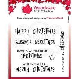Woodware Clear Stamp 4″ x 4″ Useful Christmas