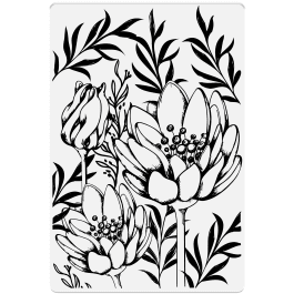 Crafter's Companion Photopolymer Stamp 6″ x 4″ – Flowers & Buds