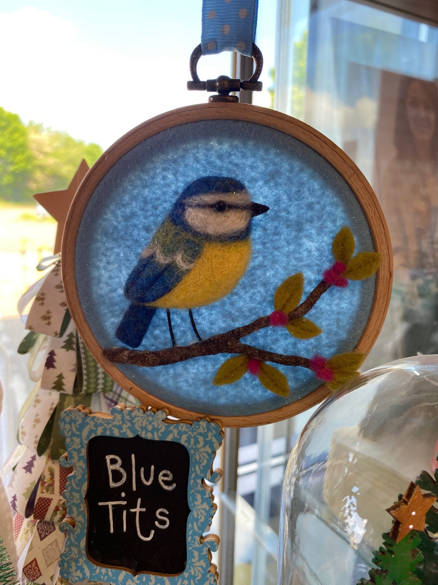 Felted Blue Tits