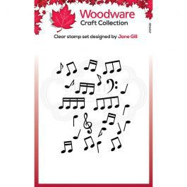 Woodware Clear Stamp 3.8″ x 2.6″ Mini Music Background