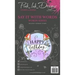Pink Ink Designs Clear Stamp A6 Decorative Sentiments
