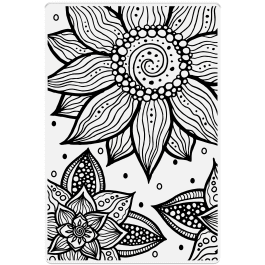 Crafter's Companion Photopolymer Stamp 6″ x 4″ – Swirling Florals