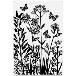 Crafter's Companion Photopolymer Stamp 6″ x 4″ – Wild Flowers & Butterflies