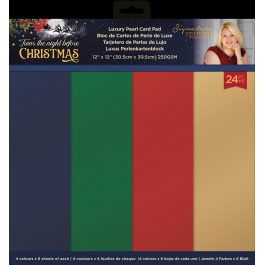 Sara – 'Twas the Night Before Christmas – 12″ x 12″ Pearlescent Card Pad 250 gsm