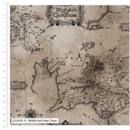 Craft Cotton Company Printed Cotton The Lord of The Rings 110cm Middle Earth Map