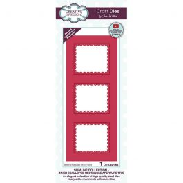 Creative Expressions Sue Wilson Dies Slimline Collection – Inner Scalloped Rectangle Aperture Trio