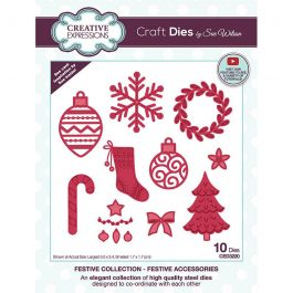 Creative Expressions Sue Wilson Dies Festive Collection – Festive Accessories