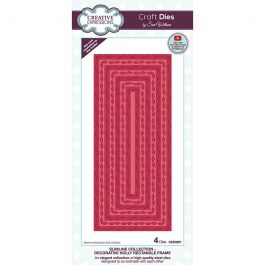 Creative Expressions Sue Wilson Dies Slimline Collection – Decorative Holly Rectangle Frame
