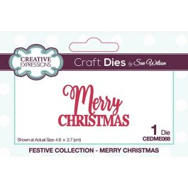Creative Expressions Sue Wilson Dies Festive Collection – Merry Christmas