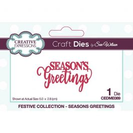 Creative Expressions Sue Wilson Dies Festive Collection – Season's Greetings