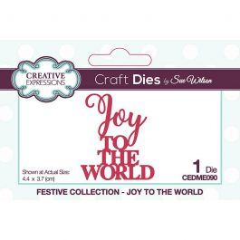 Creative Expressions Sue Wilson Dies Festive Collection – Joy To The World