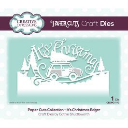 Creative Expressions Paper Cuts Craft Die It's Christmas Edger