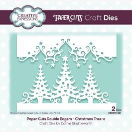 Creative Expressions Paper Cuts Craft Die Double Edgers Christmas Tree-O