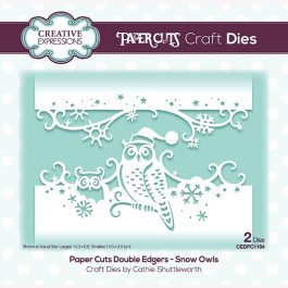 Creative Expressions Paper Cuts Craft Die Double Edgers Snow Owls