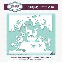 Creative Expressions Paper Cuts Craft Die Double Edgers Look Out Santa's About