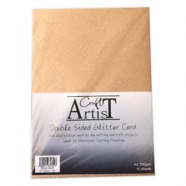 Craft Artist Double Sided Glitter Card A4 250 gsm Rose Gold Pk 10