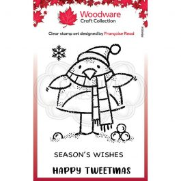 Woodware Clear Stamp 3.8″ x 2.6″ Tweetmas Robin