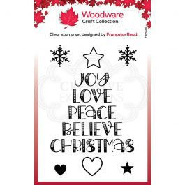 Woodware Clear Stamp 3.8″ x 2.6″ Word Tree