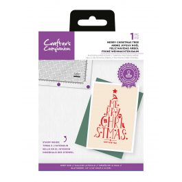 """Crafter's Companion Photopolymer Stamp – Merry Christmas Tree – 1 Piece 3.9"""" x 5.8"""" (10cm x 14.7cm)"""