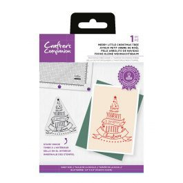 """Crafter's Companion Photopolymer Stamp – Merry Little Christmas Tree – 1 Piece 4.2"""" x 4.9"""" (10.6cm x 12.5cm)"""