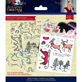 Sara – 'Twas the Night Before Christmas – Stamp & Die – Build-A-Sleigh