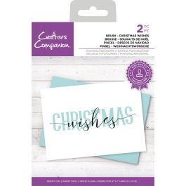 """Crafter's Companion Brush Lettering Stamp """"Christmas Wishes"""" 144 x 78 mm"""