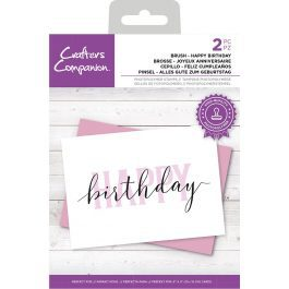 """Crafter's Companion Brush Lettering Stamp """"Happy Birthday"""" 144 x 104 mm"""