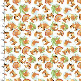 3 Wishes Printed Cotton Flannel Welcome to the Jungle 110cm Friends