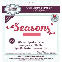 Creative Expressions Sue Wilson Stamp & Die Festive Collection – Seasons