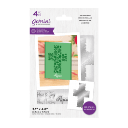 Crafter's Companion Gemini – Stamp and Die – Foliage Cross – 4 pc set
