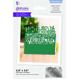 Crafter's Companion Gemini – Metal Die – Edge'able – Merry Christmas – Die Size 6″ x 3.8″ (15.2cm x 9.7cm)