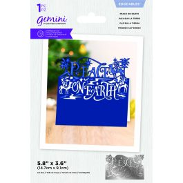 Crafter's Companion Gemini – Metal Die – Edge'able – Peace on Earth – Die Size 6″ x 3.9″ (15.2cm x 9.9cm)