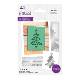 Crafter's Companion Gemini – Stamp and Die – Holly Tree – 4 pc set