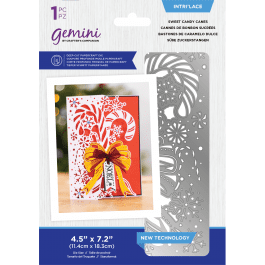 Crafter's Companion Gemini – Intri'lace – Sweet Candy Canes – 1 piece die size 4.5″ x 7.2″ (11.4cm x 18.3cm)anes