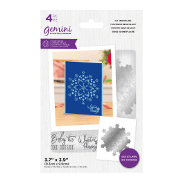 Crafter's Companion Gemini – Stamp and Die – Icy Snowflake – 4 pc set