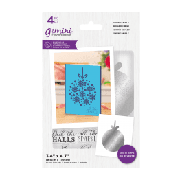 Crafter's Companion Gemini – Stamp and Die – Snowy Bauble – 4 pc set