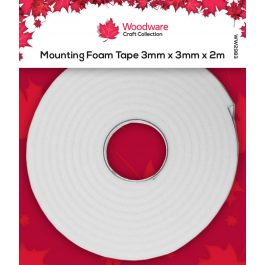 Woodware Mounting Foam Tape 3mm x 3mm x 2m White