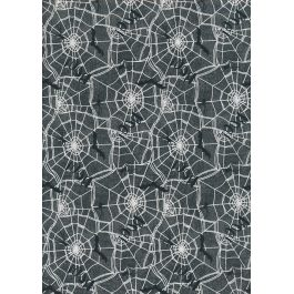 3 Wishes Printed Cotton Spooky Night 110cm Webs