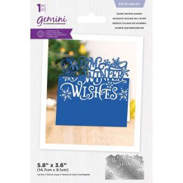 Crafter's Companion Gemini – Metal Die – Edge'able – Warm Winter Wishes – Die Size 6″ x 3.9″ (15.2cm x 9.9cm)