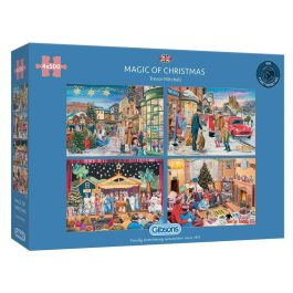 Gibsons Jigsaw Magic of Christmas 4 x 500 Piece Puzzle