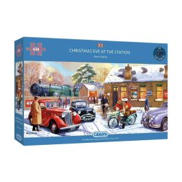 Gibsons Jigsaw Christmas Eve at the Station 636 Piece Puzzle