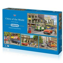 Gibsons Jigsaw Cities of the World 4 x 500 Piece Puzzle